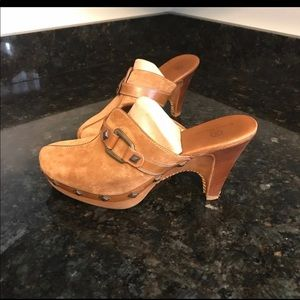 Cole Haar Studded Wedge Mules